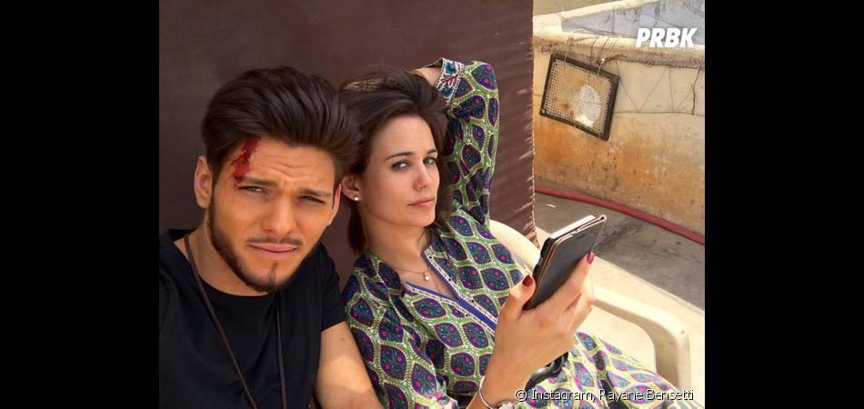 Rayane Bensetti et Lucie Lucas sur le tournage de Coup de foudre à Jaipur
