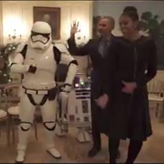 Barack Obama et sa femme s'offrent quelques pas de danse avec R2-D2 et des Stormtroopers