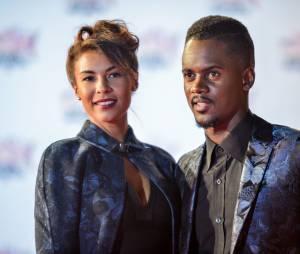 Black M et sa compagne lors des NRJ Music Awards en 2015.