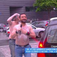 Cyril Hanouna torse nu sous la pluie : sa douche délirante dans TPMP
