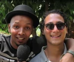 Waly Dia entouré de Younès et Bambi au Marrakech du rire 2016.