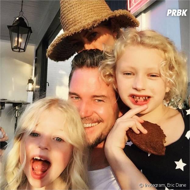 Eric Dane avec ses filles Billie et Georgia et sa femme Rebecca Gayheart