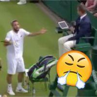 Viktor Troicki pète un plomb et insulte l'arbitre à Wimbledon : la vidéo surréaliste