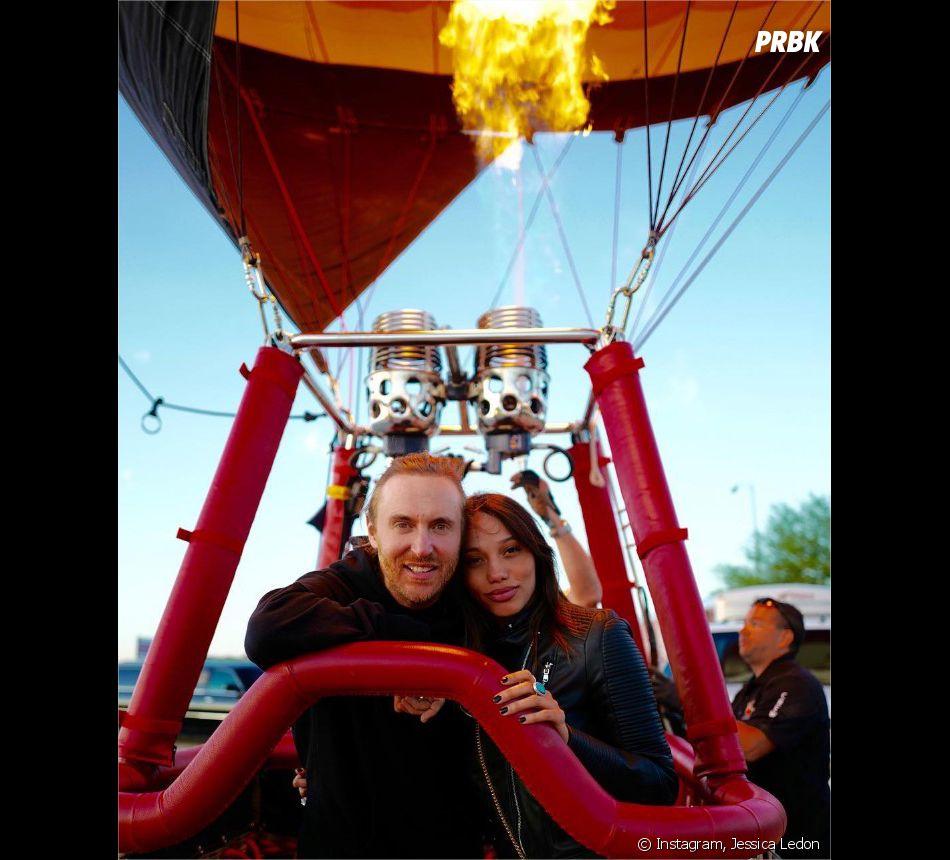 David Guetta et sa chérie Jessica Ledon sur Instagram
