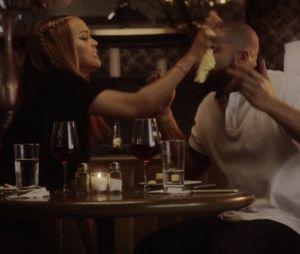 """Drake et Tyra Banks en couple dans son nouveau clip """"Childs Play"""" : elle l'entartre et c'est à mourir de rire."""