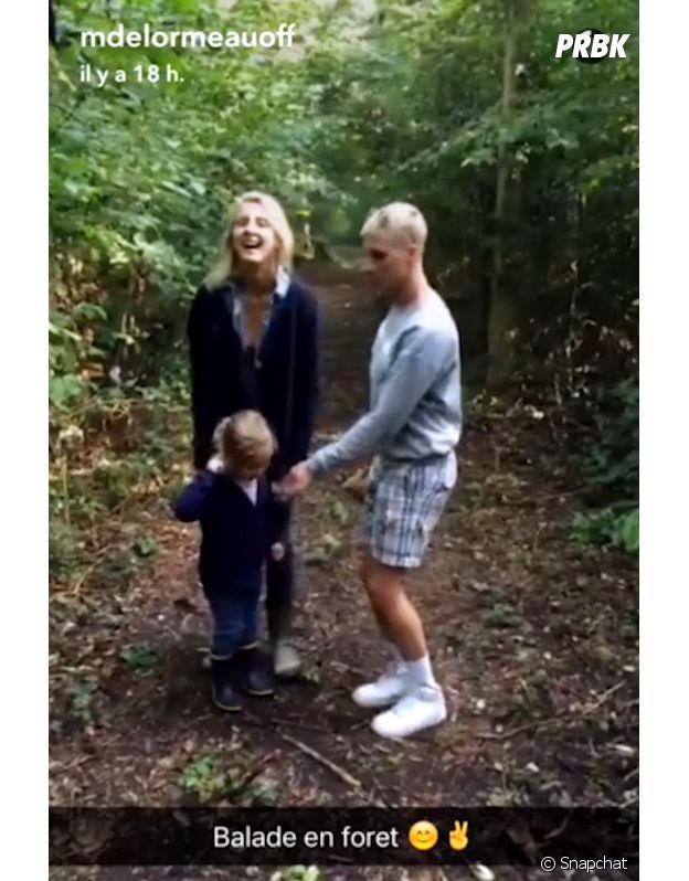 Benoît Dubois sur le Snapchat de Matthieu Delormeau, il est en promenade avec la soeur et la nièce du chroniqueur de TPMP.