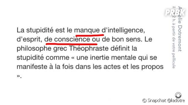 Aurélie Dotremont tacle Le Mad Mag sur Snapchat