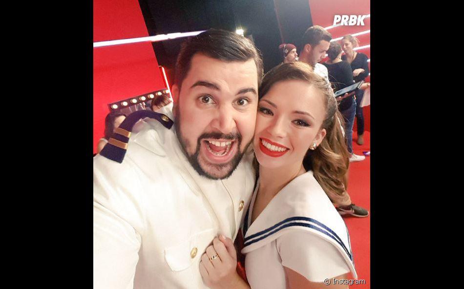 Artus avec Marie Denigot, sa partenaire dans Danse avec les stars 7.