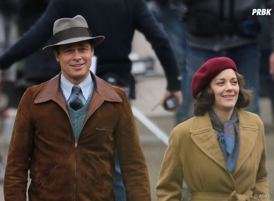 Marion Cotillard et Brad Pitt sur le tournage du film Alliés, qui sortira le 23 novembre prochain au cinéma.