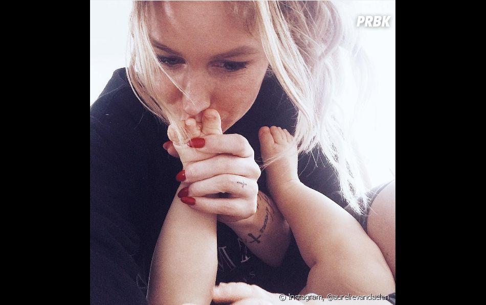 Aurélie Van Daelen : une maman adorable avec son fils