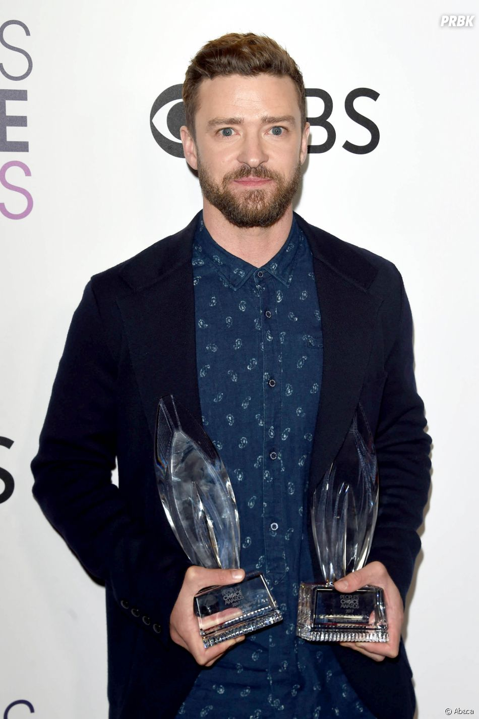 Justin Timberlake aux People's Choice Awards 2017 le 18 janvier.