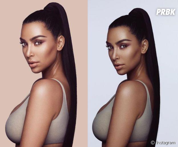 Kim Kardashian lance sa marque de maquillage KKW BEAUTY et reçoit déjà des critiques pour ses photos publicitaires !