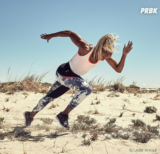 """Natasha Hastings pour la campagne """"Unlike Any"""" d'Under Armour."""