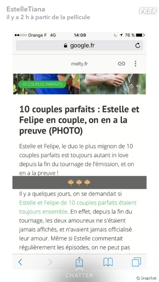 10 couples parfaits : Estelle et Felipe toujours en couple ? Les snaps qui sèment le doute !