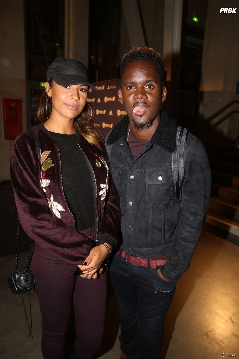 Black M et sa femme en couple à la soirée FIFA 18 le 25 septembre 2017