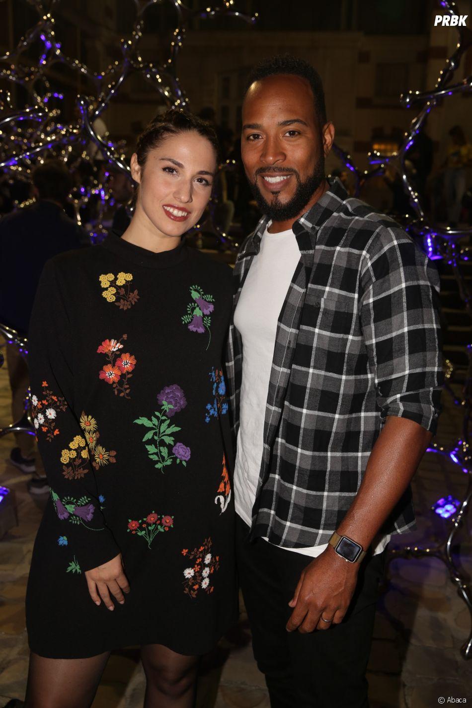 Charlotte Namura et son mari, Jean-Luc Guizonne à la soirée de lancement FIFA 18