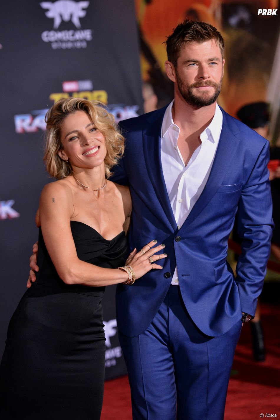 Chris Hemsworth et sa femme Elsa Pataky à l'avant-première de Thor Ragnarok à Los Angeles le 10 octobre 2017