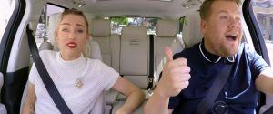 """Miley Cyrus dans """"Carpool Karaoke"""" : sa révélation étonnante sur le clip """"Wrecking Ball"""""""