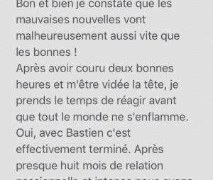 Mathilde (Koh Lanta 2017) annonce sa rupture avec Bastien