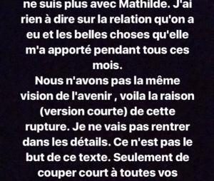 Bastien (Koh Lanta 2017) se confie sur sa rupture avec Mathilde