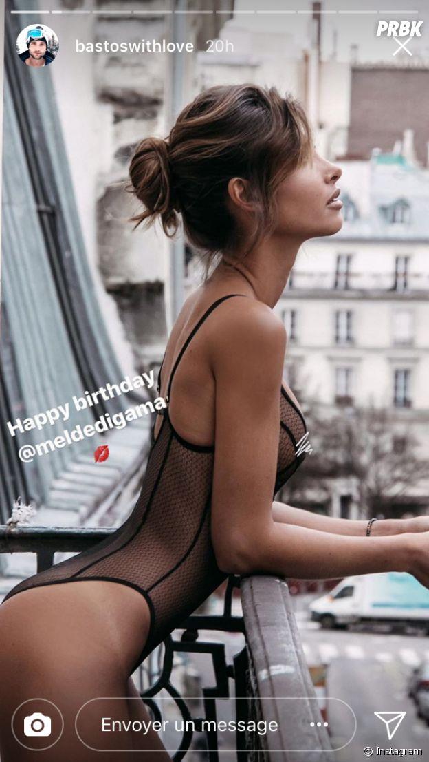 Bastien Griman souhaite un bon anniversaire à Mélanie Dédigama sur Instagram Stories