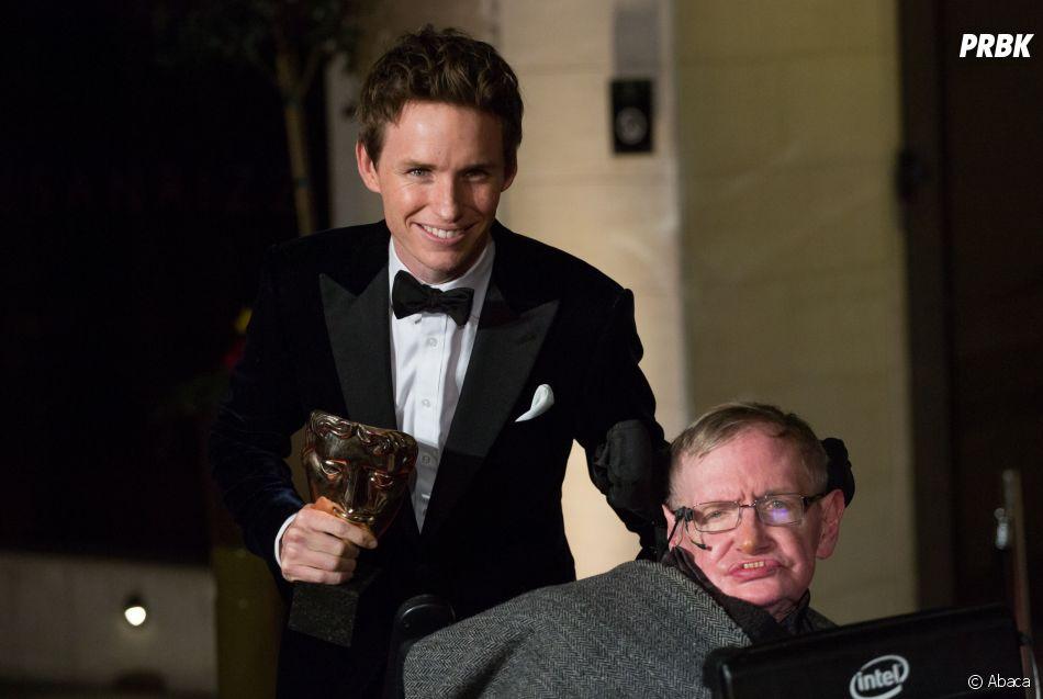 Stephen Hawking et  Eddie Redmayne