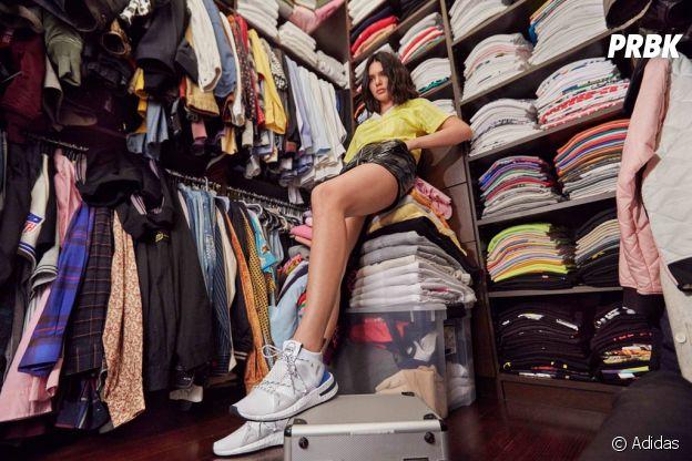 Kendall Jenner égérie Adidas : elle dévoile les sneakers Arkyn dans la nouvelle campagne publicitaire... shootée dans son dressing !