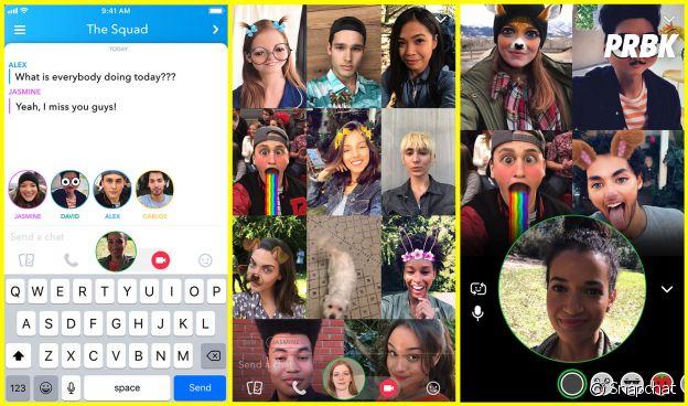 Snapchat : le chat vidéo en groupe bientôt dispo