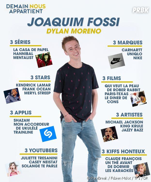 Demain nous appartient : le portrait de Joaquim Fossi en infographie