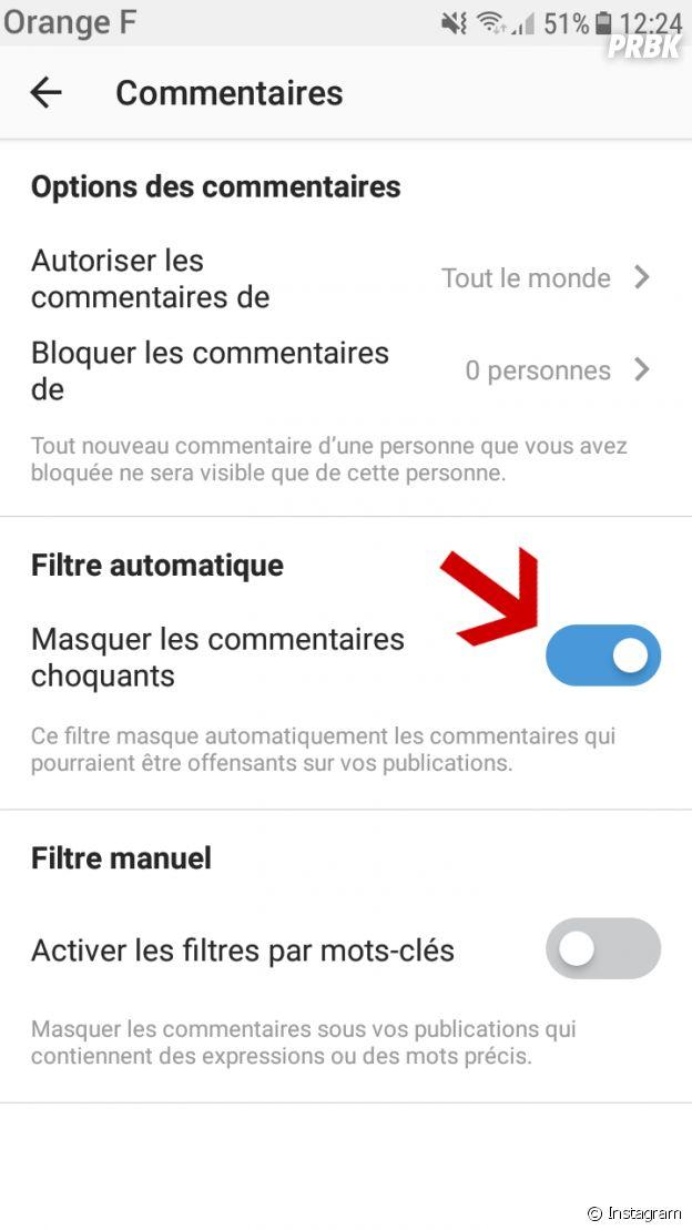 Instagram met en place un filtre pour bloquer les commentaires haineux
