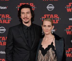 Adam Driver et sa femme Joanne Tucker à l'avant-première de Star Wars 8