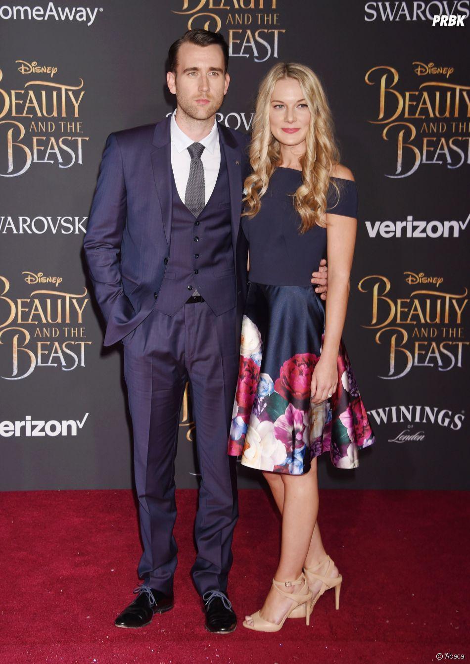 Matthew Lewis (Harry Potter) et sa femme Angela Jones