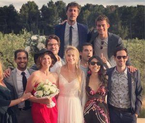Les acteurs de Demain nous appartient présents pour le mariage de Solène Herbert