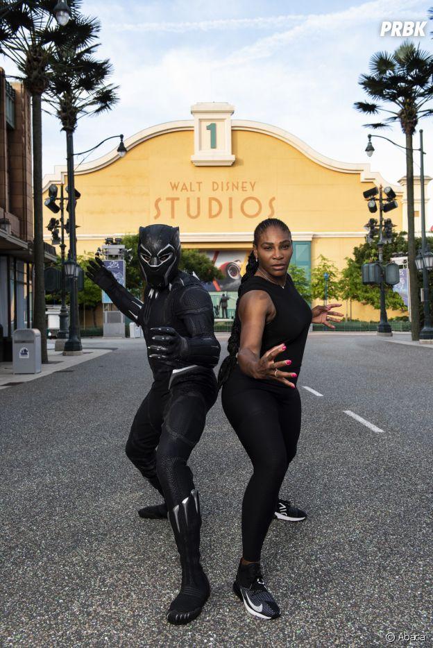 Serena Williams présente au lancement de Marvel Summer of Super Heroes à Disneyland Paris ce samedi 9 juin 2018