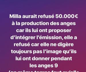 Milla Jasmine refuse 50 000 euros pour participer aux Vacances des Anges 3 ?