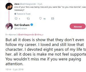 Kat Graham critique ses fans sur Twitter