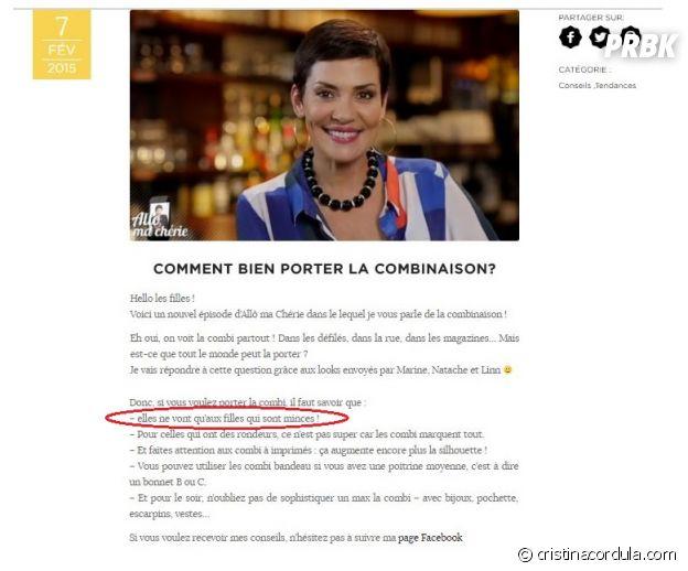 "Cristina Cordula ""reine du bodyshaming"" ? Valérie Damidot et des internautes choqués par ses propos !"