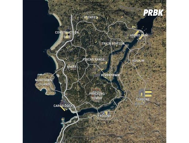 Call of Duty : Black Ops 4 : voici la carte du mode Blackout