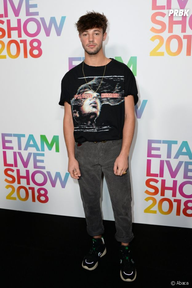 Cameron Dallas au défilé Etam, ce mardi 25 septembre 2018 à Paris.