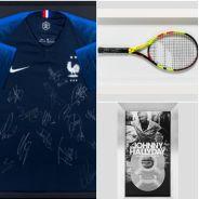 Téléthon 2018 : maillot des Bleus signé par les joueurs, raquette de Nadal... à vos enchères !