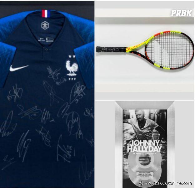 Téléthon 2018 : maillot des Bleus, raquette de Nadal... les objets mis en ventes par les stars