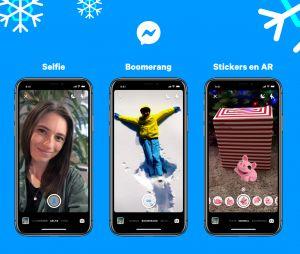 Facebook Messenger lance des stickers festifs pour Noël et le jour de l'an, ainsi que des nouveaux effets caméra.