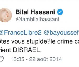Bilal Hassani s'explique après la publication de tweets datant de 2014 à propos d'Israel ou Dieudonné