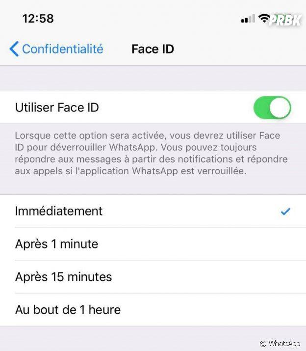 WhatsApp : comment activer Face ID ou Touch ID sur iPhone après la mise à jour