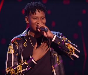 """Gabriel (ex membre des Kids United) dans The Voice UK : il a repris """"Treasure"""" de Bruno Mars."""