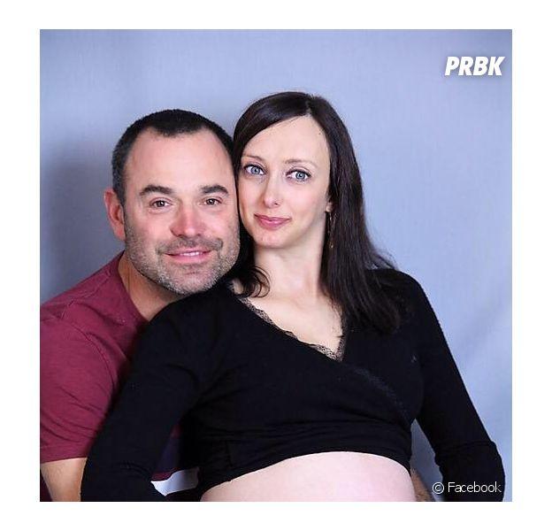 Emilie (L'amour est dans le pré 2017) et Sebastien parents d'une petite fille