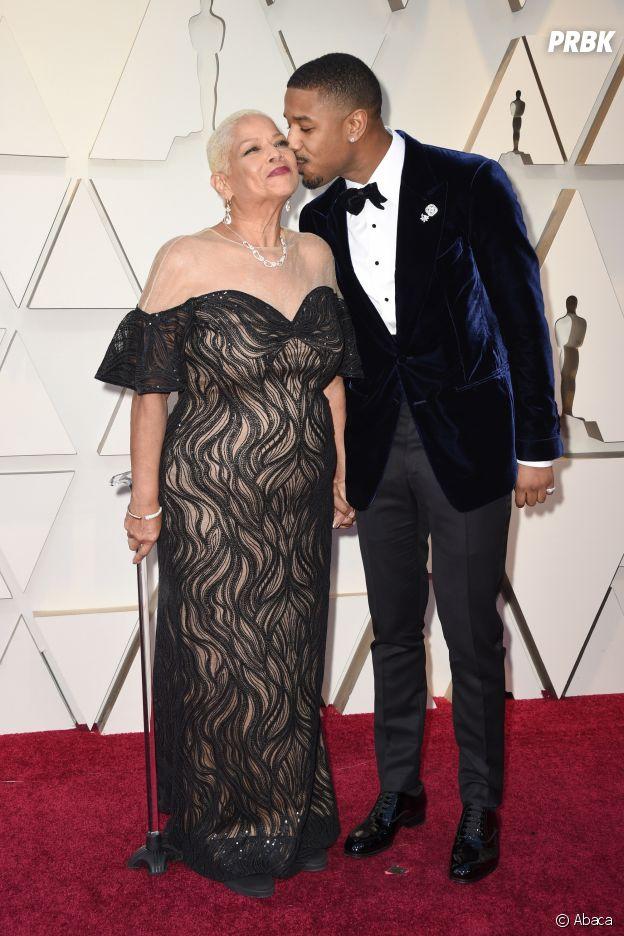 Ces stars qui posent avec leur famille sur un tapis rouge : Michael B. Jordan et sa mère Gloria