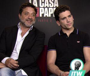 La Casa de Papel : Enrique Arce, Jaime Lorente et Luka Peros en interview pour PRBK