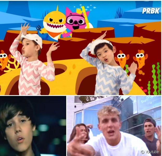 Justin Bieber, Jake Paul, Baby Shark : les vidéos Youtube les plus détestées de l'histoire