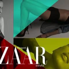 Cristiano Ronaldo ... sa petite amie Irina Shayk magnifique dans la pub Harper's Bazaar